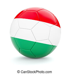 Soccer football ball with Hungary flag