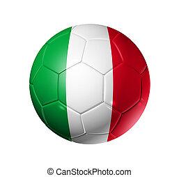 Soccer football ball with Italy flag - 3D soccer ball with ...