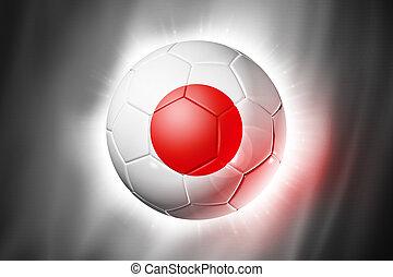 Soccer football ball with Japan flag