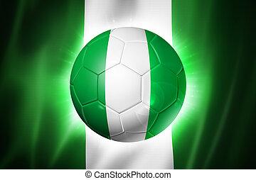 Soccer football ball with Nigeria flag