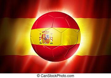 Soccer football ball with Spain flag