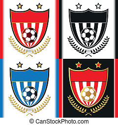 Soccer - Football emblem with different color variant