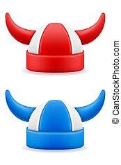 soccer football fans attribute hat illustration