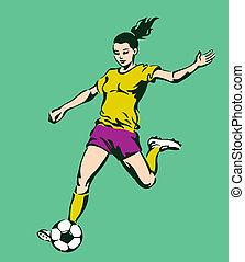 Soccer Football Female Player