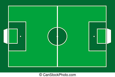 soccer football field illustration