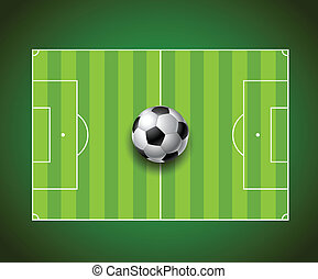 soccer football field with ball