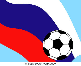 Soccer Football Flag Russia