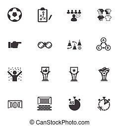 Soccer, Football icons set.