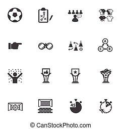 Soccer, Football icons set.