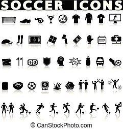 Soccer football icons set.