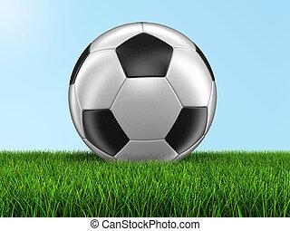 Soccer football on grass