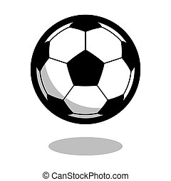 Soccer football play sport ball logo vector line 3d game icon isolated