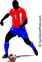 Soccer football player.