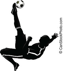Very high quality detailed soccer football player illustration.