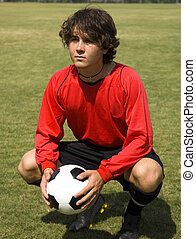Soccer- Football player in Red