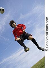 Soccer Football Player making Header
