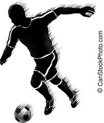 Soccer Football Player Sports Silhouette Concept