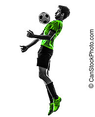 soccer football player young man silhouette