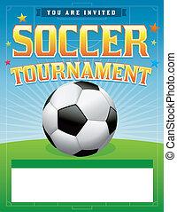 Soccer Football Tournament Illustration - A soccer...