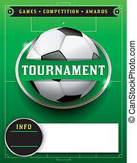 Soccer Football Tournament Template Illustration - A soccer...