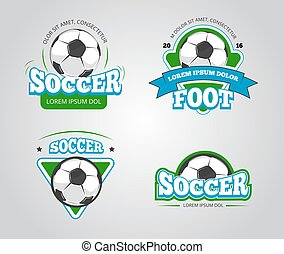 Soccer football vector badges, logos, t-shirt design templates