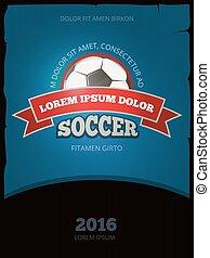 Soccer football vector vintage poster design templates