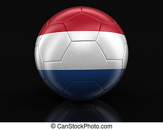 Soccer football with flag