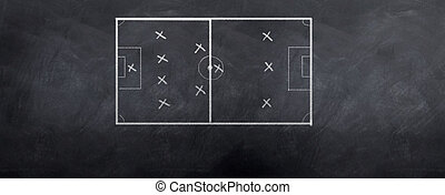 Soccer Formation - A socceer strategy board as the half time...