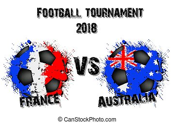 Soccer game  France vs Australia