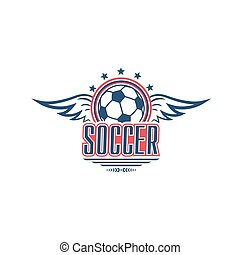 Soccer game symbol with football sport ball