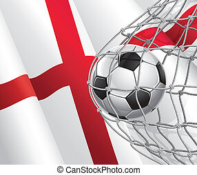 English flag with a soccer ball