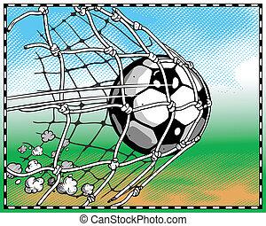 Soccer goal flies
