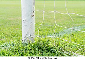 soccer goal football green grass field