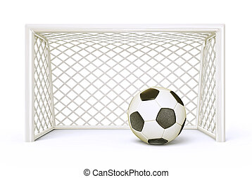 soccer goal isolated on a white background