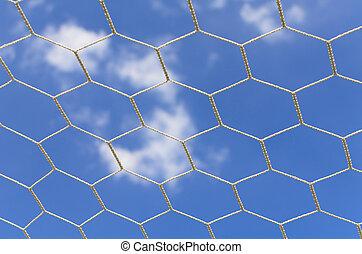 Soccer goal net in soccer.