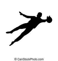 Soccer goalkeeper silhouette