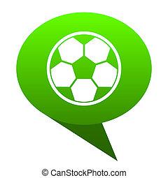 soccer green bubble icon