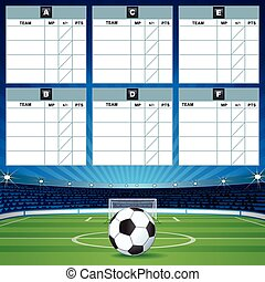 Soccer Group Table Template