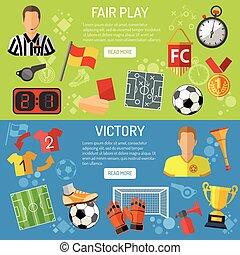 Soccer horizontal Banners
