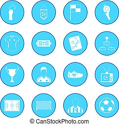 Soccer icon blue