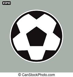 soccer icon, flat design