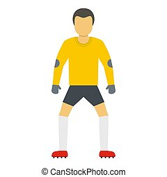 Soccer icon, flat style