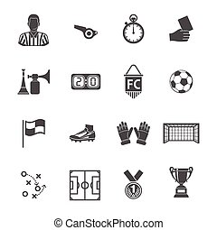 Soccer Icon Set - Soccer and Football Icon Set for Flyer,...