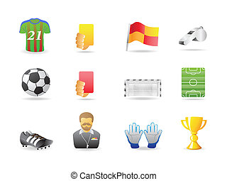 soccer icons - football icons for design