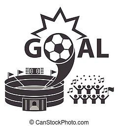 Soccer icons set,