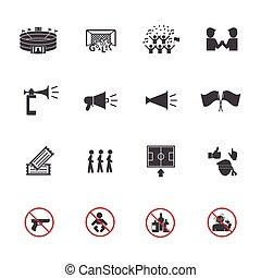 Soccer icons set, Fan club