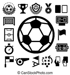 Soccer Icons set. Illustration eps10