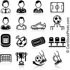 Soccer icons. Vector illustration