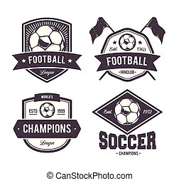 soccer identity brand logo template
