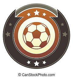 Soccer imperial button